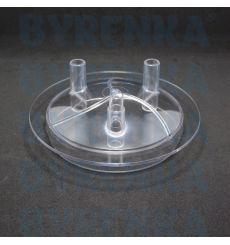 Крышка доильного ведра прозрачная 3 выхода (без прокладки)
