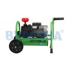 Vacuum pump DU-1500 assembled on the frame